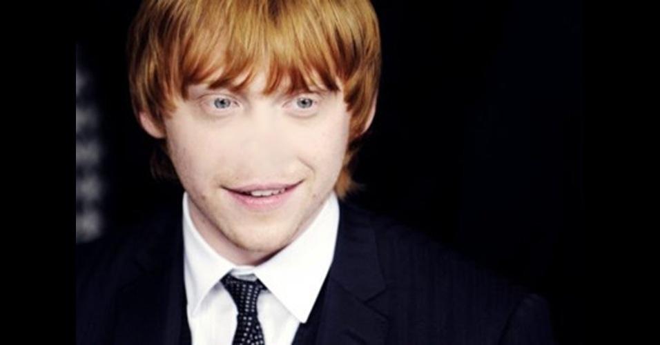 """O site """"Freaking News"""" reúne fotos de celebridades que tiveram os narizes retirados em editores de imagens, como no caso do ator Rupert Grint"""