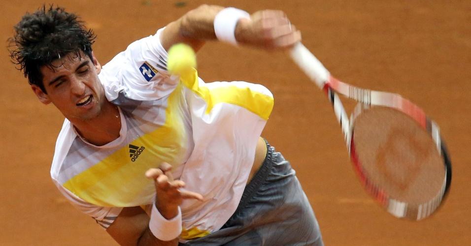 14.fev.2013 - Bellucci enfrenta Volandri na segunda rodada do Aberto do Brasil