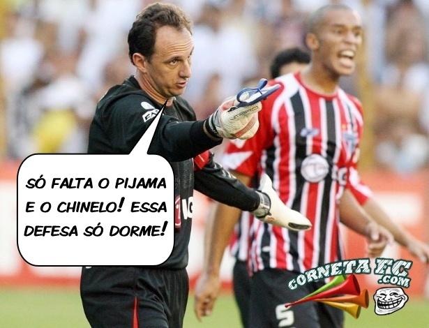 Corneta FC: Após gol de Ronaldinho, R. Ceni diz o que falta para a defesa do São Paulo