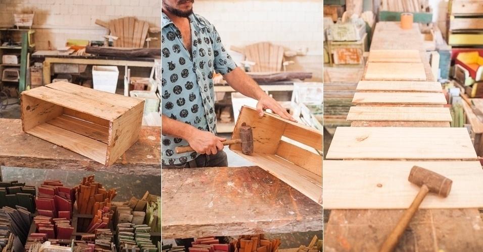 Armario En El Salon ~ Faça um cachep u00f4 de madeira reciclada que pode ser usado como revisteiro BOL Fotos
