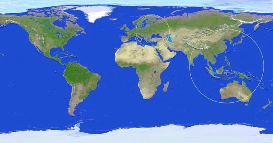 Amanhã, às 17h24 de Brasília, o asteroide de 45 metros de largura, passará sobre Sumatra (Indonésia) a uma distância de 27 mil quilômetros. Será possível vê-lo com ajuda de binóculos e telescópios em partes da Ásia, Oceania, Europa e África