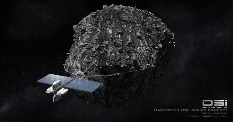 """15.fev.2013 - Cientistas já estudam algumas opções para desviar um objeto do espaço que possa entrar em rota de colisão com a Terra e ameaçar a vida no planeta. A proposta dos norte-americanos é trabalhar com a atração de um veículo espacial que ficaria muito tempo próximo de asteroides, como uma espécie de """"trator de gravidade"""". Já os europeus desenvolvem estratégias de desvio da trajetória"""