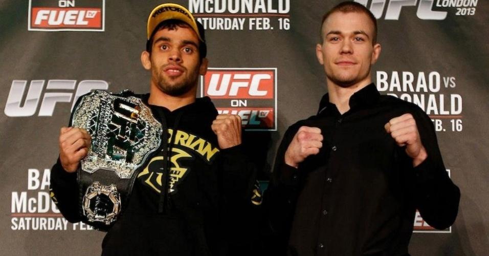 Renan Barão e Michael McDonald se encontram antes do UFC em Londres