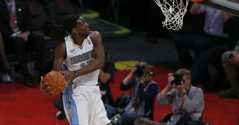 15.fev.2013 - Kenneth Faried, do Denver Nuggets, foi eleito o MVP da partida dos novatos do fim de semana das estrelas da NBA