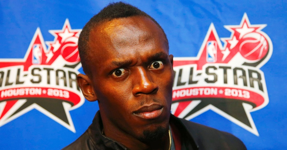 17.fev.2013 - Usain Bolt durante o All-Star Game da NBA