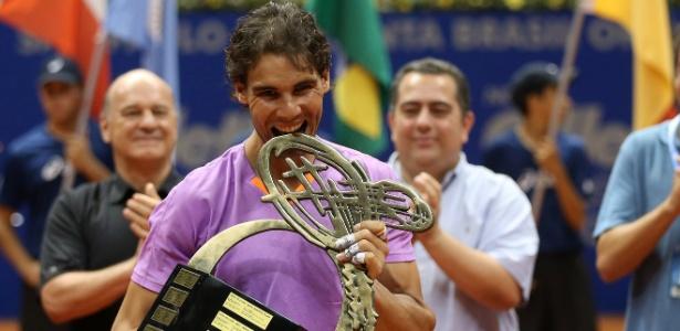 Espanhol Rafael Nadal venceu o Aberto do Brasil de 2013, disputado no Ginásio do Ibirapuera