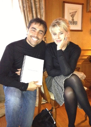 O ator Ricardo Pereira e a atriz Fanny Ardant