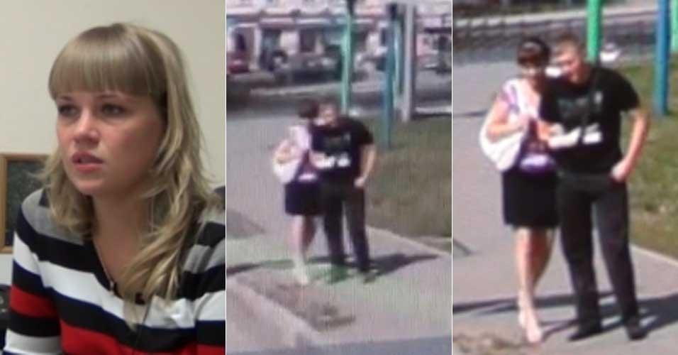 20.fev.2013 -- Marina Voinova (esq), 24, contou ao site russo 'Life News' como terminou um relacionamento de cinco anos após ter visto seu namorado com outra mulher no serviço de mapas Yandex. Ao procurar um endereço, ela contou ter se deparado com uma silhueta masculina familiar. Ao aproximar a imagem, reconheceu Alexander com uma ex-namorada - o braço engessado do rapaz ajudou a confirmar sua suspeita. Ao ser confrontado com a imagem, ele confessou a traição e o casal se separou