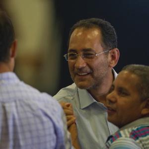 João Paulo Cunha chega à festa de comemoração dos dez anos do PT no governo no último dia 20