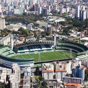Imagem aérea do estádio Couto Pereira, do Coritiba