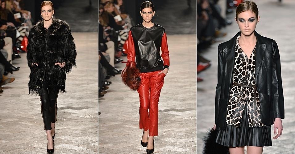 Modelos apresentam looks da Simonetta Ravizza para o Inverno 2013 durante a semana de moda de Milão (20/02/2013)