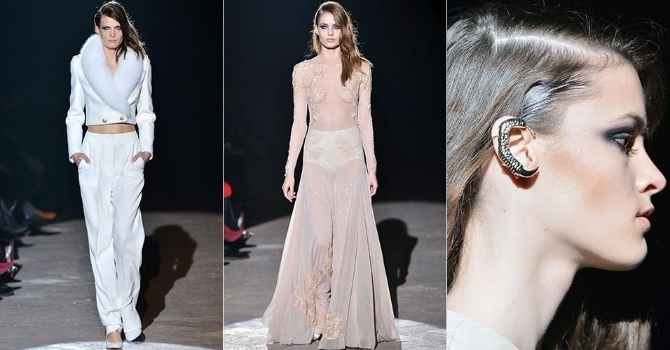 Modelos apresentam looks de Francesco Scognamiglio para o Inverno 2013 durante a semana de moda de Milão (20/02/2013)
