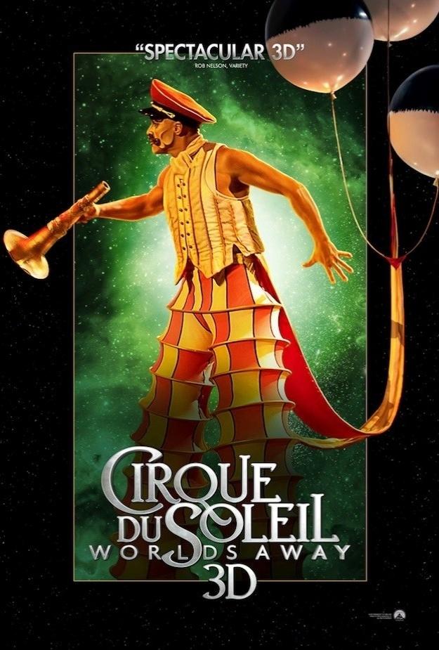 """Pôster em inglês de """"Outros Mundos"""", do Cirque du Soleil"""