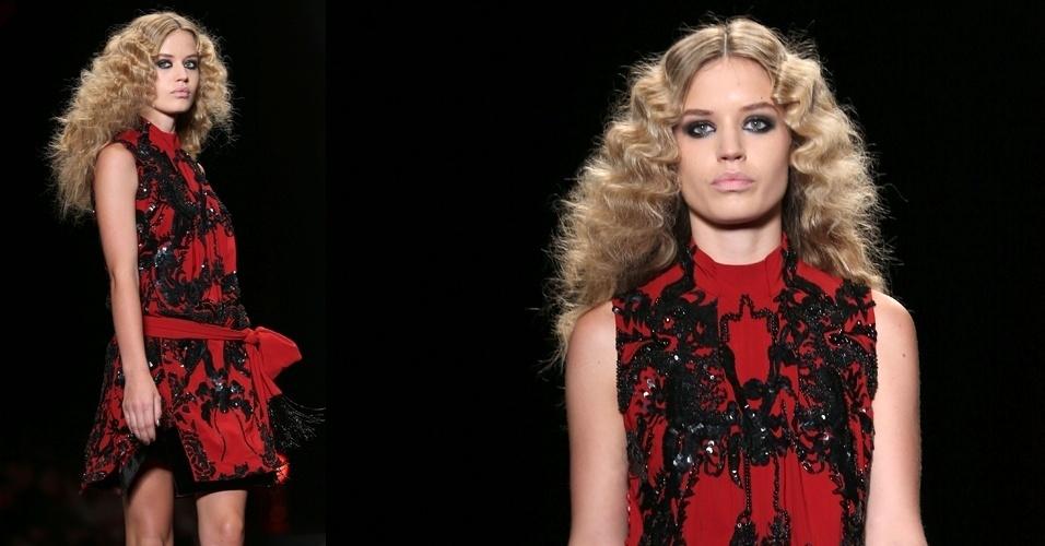 Georgia May Jagger apresentam look da Just Cavalli para o Inverno 2013 durante a semana de moda de Milão (21/02/2013)