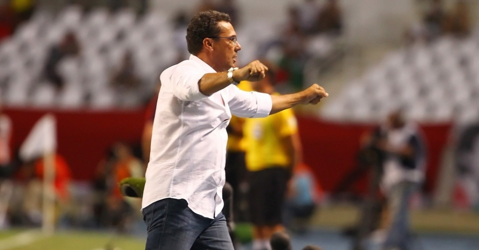Tcnico Vanderlei Luxemburgo durante jogo do Grmio contra o Fluminense pela Libertadores no Engenho (20/02/2013)