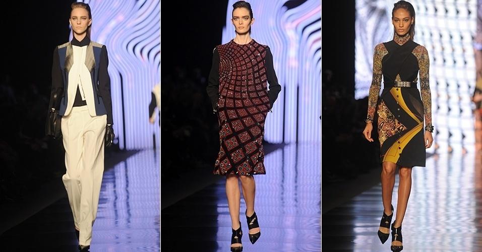 Modelos apresentam looks da Etro para o Inverno 2013 durante a semana de moda de Milão (22/02/2013)
