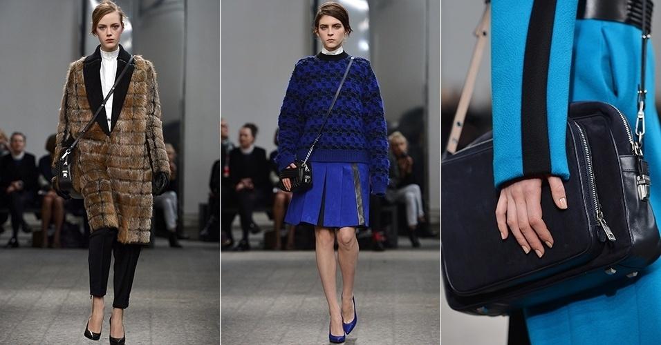Modelos apresentam looks da Sportmax para o Inverno 2013 durante a semana de moda de Milão (22/02/2013)