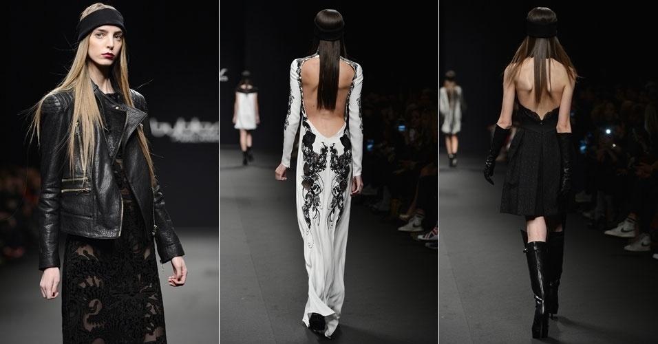 23 fev. 2013 - Modelos entraram na passarela mostrando bastante pele para apresentar a coleção outono/inverno da Byblos Milano