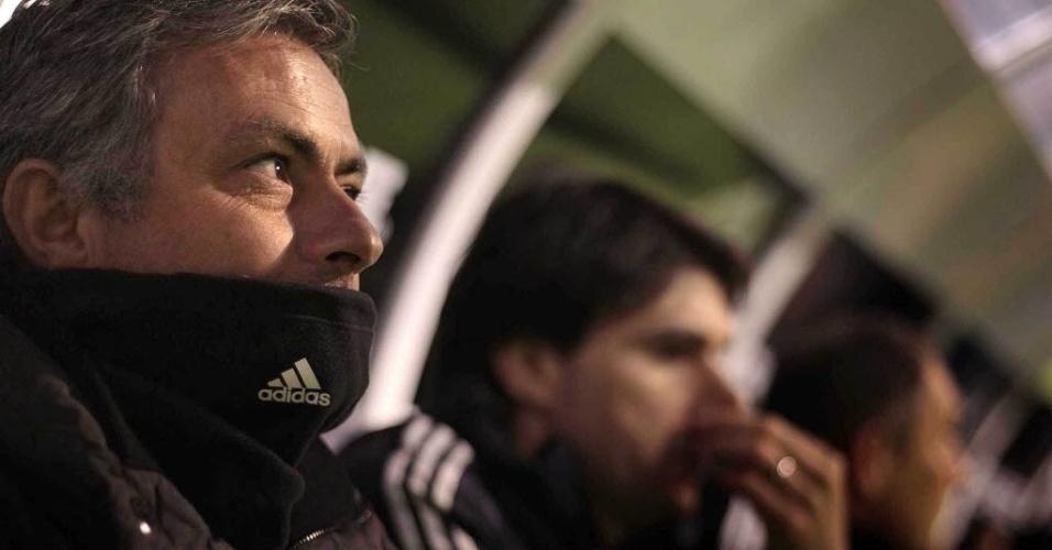 23.fev.2013 - José Mourinho, técnico do Real Madrid, completa hoje 1.000 dias de clube