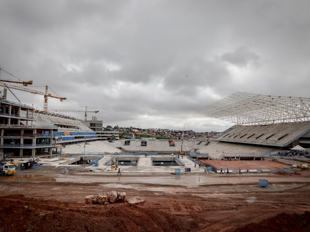 As obras no estdio do Corinthians comearam em maio de 2011