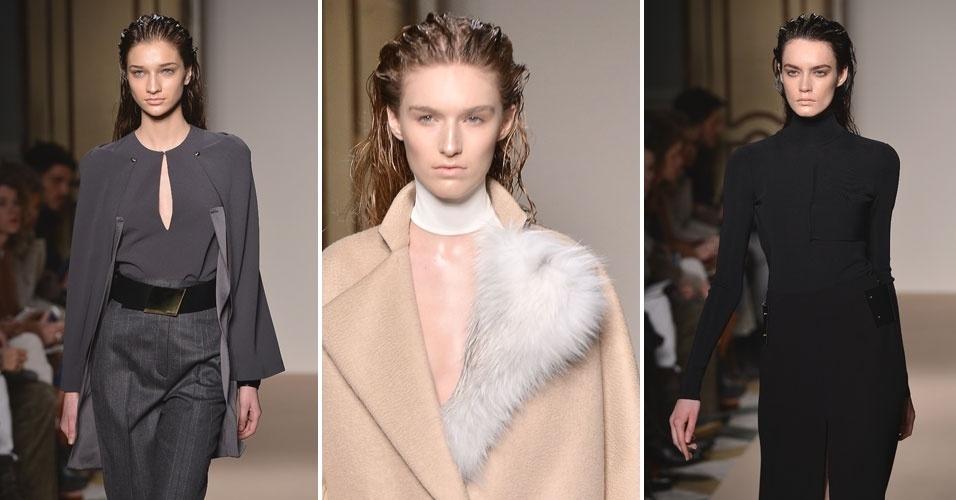 23 fev. 2013 - Preto e bege foram as principais apostas da Genny para a coleção outono/inverno lançada na Semana de Moda de Milão