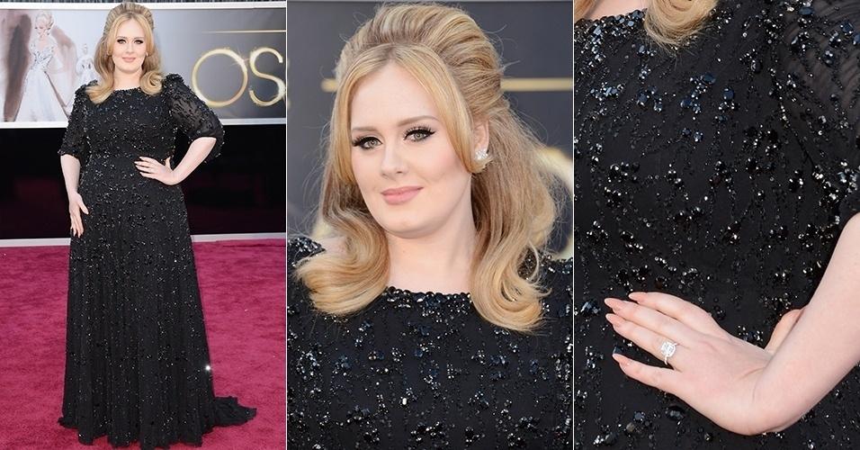 Adele chega para o Oscar 2013, em Los Angeles (24/02/2013)