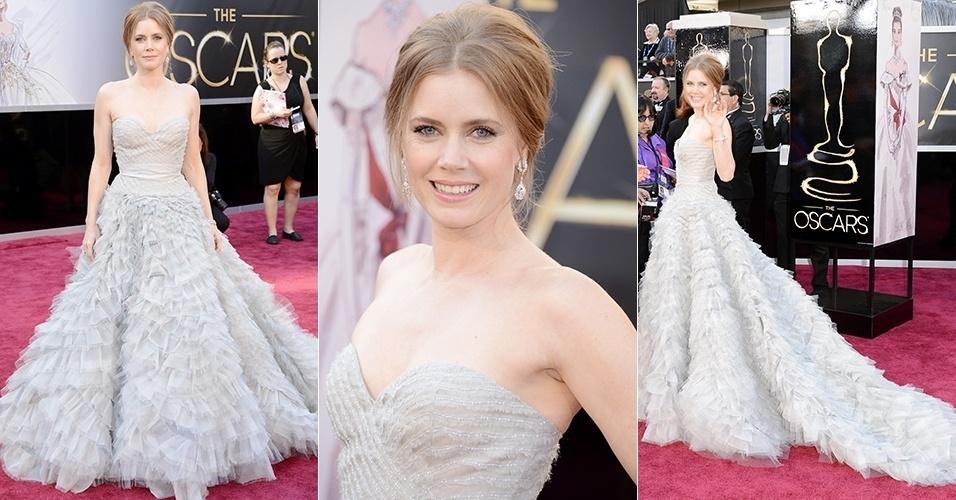 Amy Adam chega para o Oscar 2013, em Los Angeles (24/02/2013)