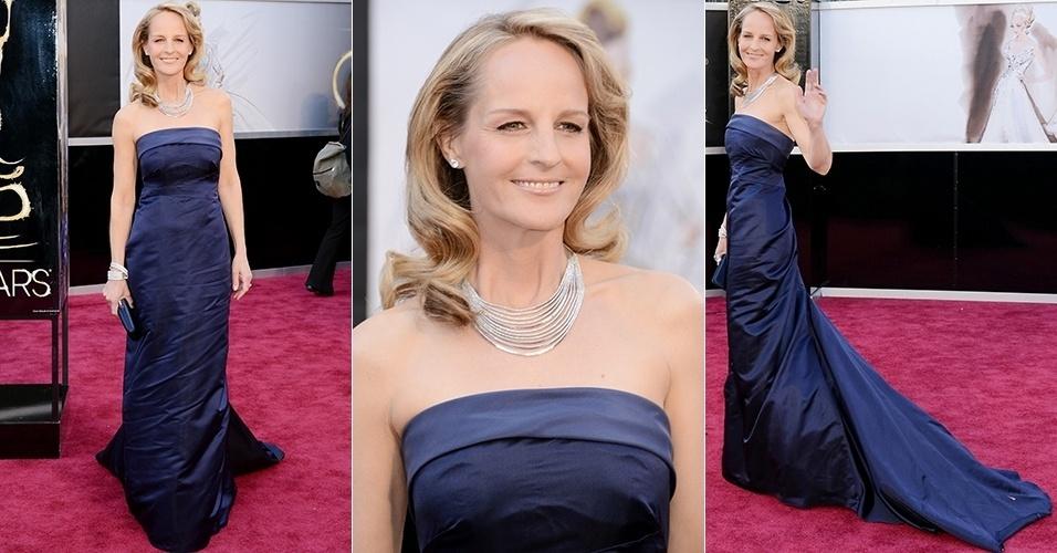 Helen Hunt chega para o Oscar 2013, em Los Angeles (24/02/2013)