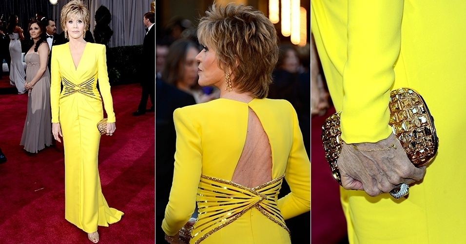 Jane Fonda chega para o Oscar 2013, em Los Angeles (24/02/2013)