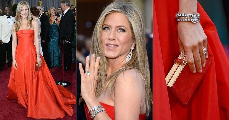 Jennifer Aniston chega para o Oscar 2013, em Los Angeles (24/02/2013)