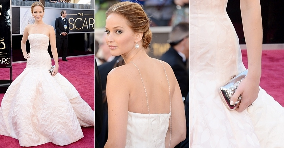 Jennifer Lawrence chega para o Oscar 2013, em Los Angeles (24/02/2013)