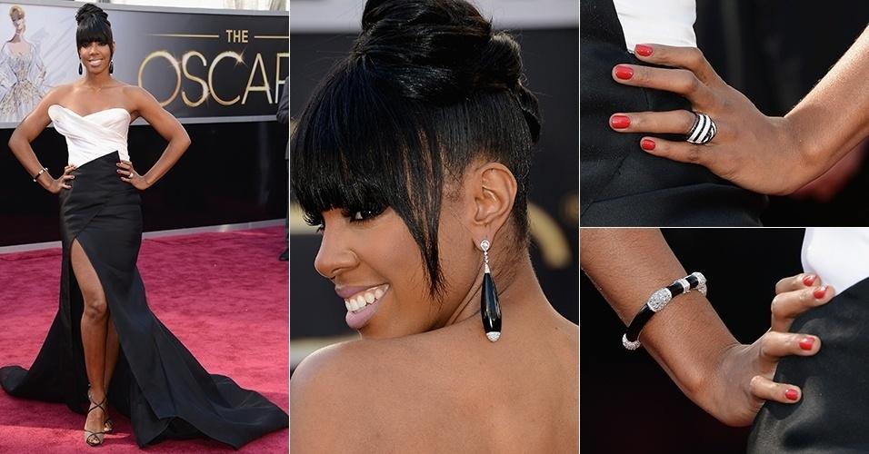 Kelly Rowland chega para o Oscar 2013, em Los Angeles (24/02/2013)