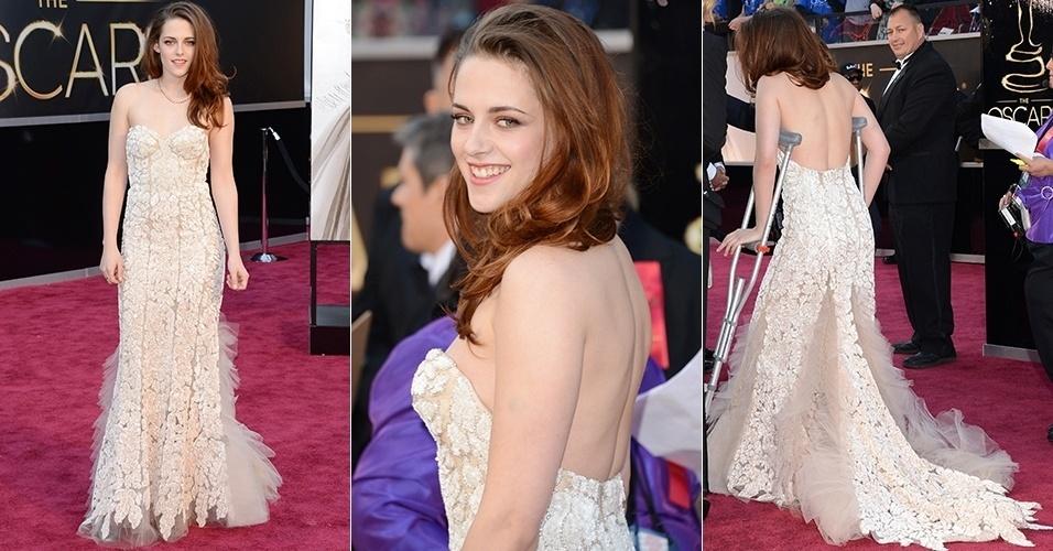 Kristen Stewart chega para o Oscar 2013, em Los Angeles (24/02/2013)