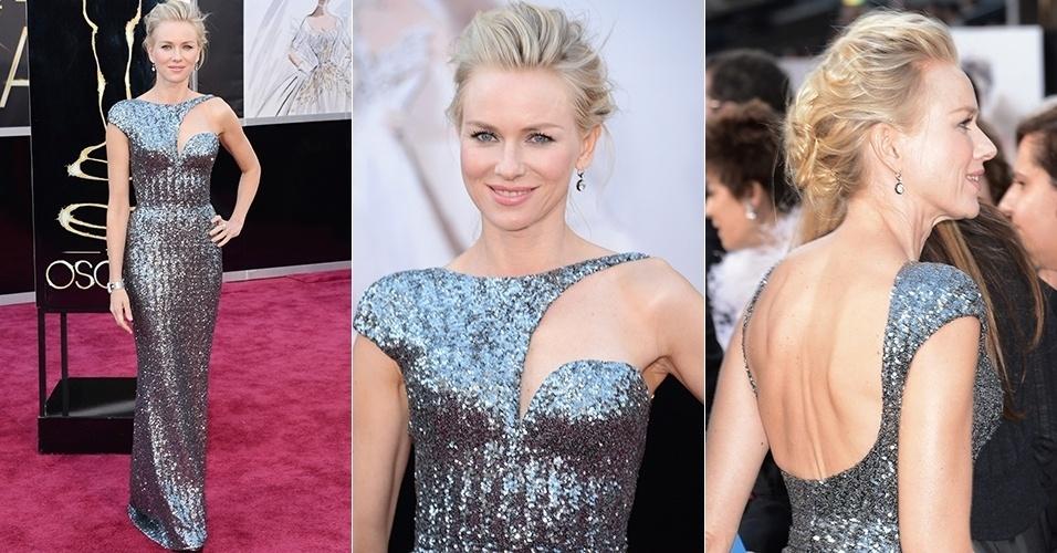 Naomi Watts chega para o Oscar 2013, em Los Angeles (24/02/2013)
