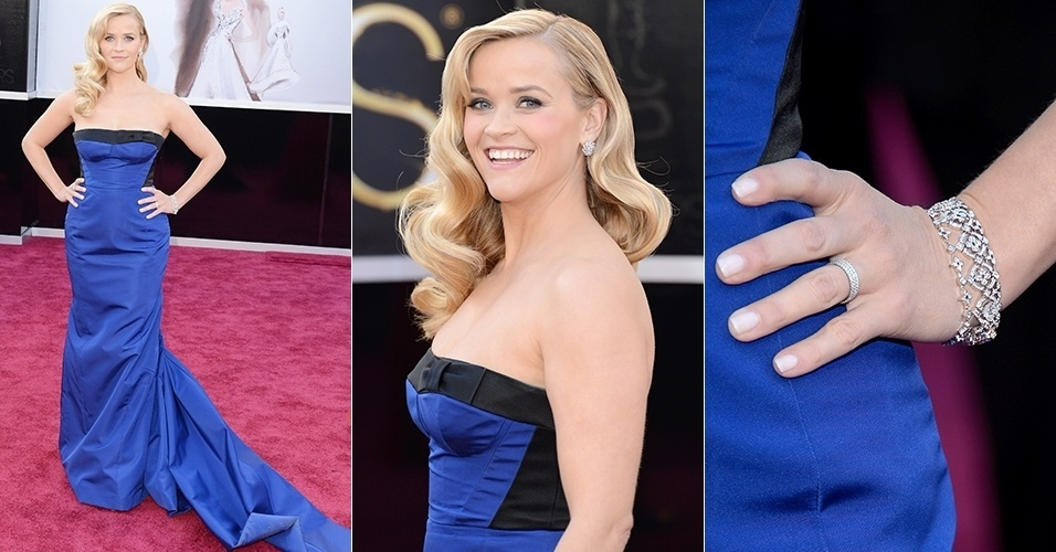 Reese Witherspoon chega para o Oscar 2013, em Los Angeles (24/02/2013)