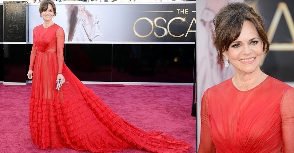 Sally Field chega para o Oscar 2013, em Los Angeles (24/02/2013)