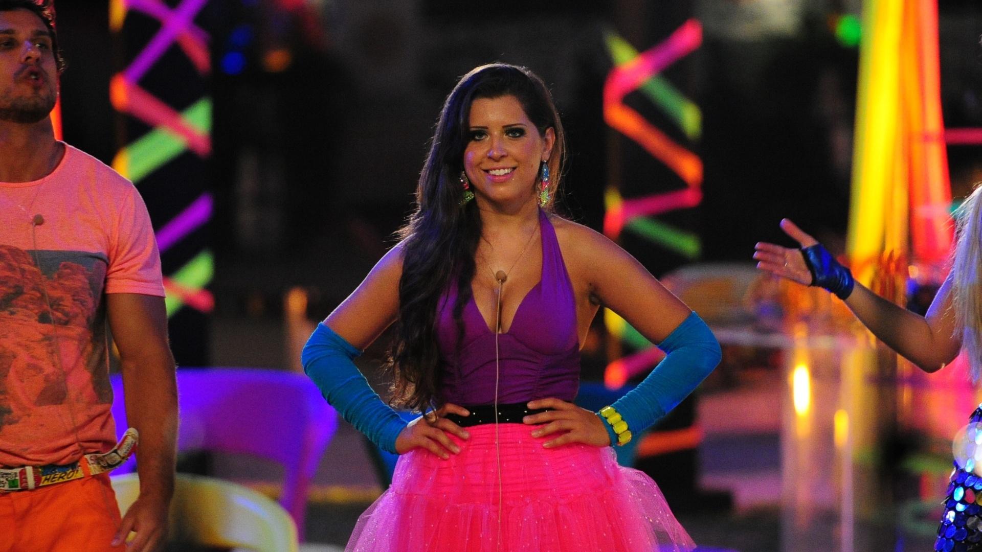 23.fev.2013 - Andressa dança na festa Circo Mágico