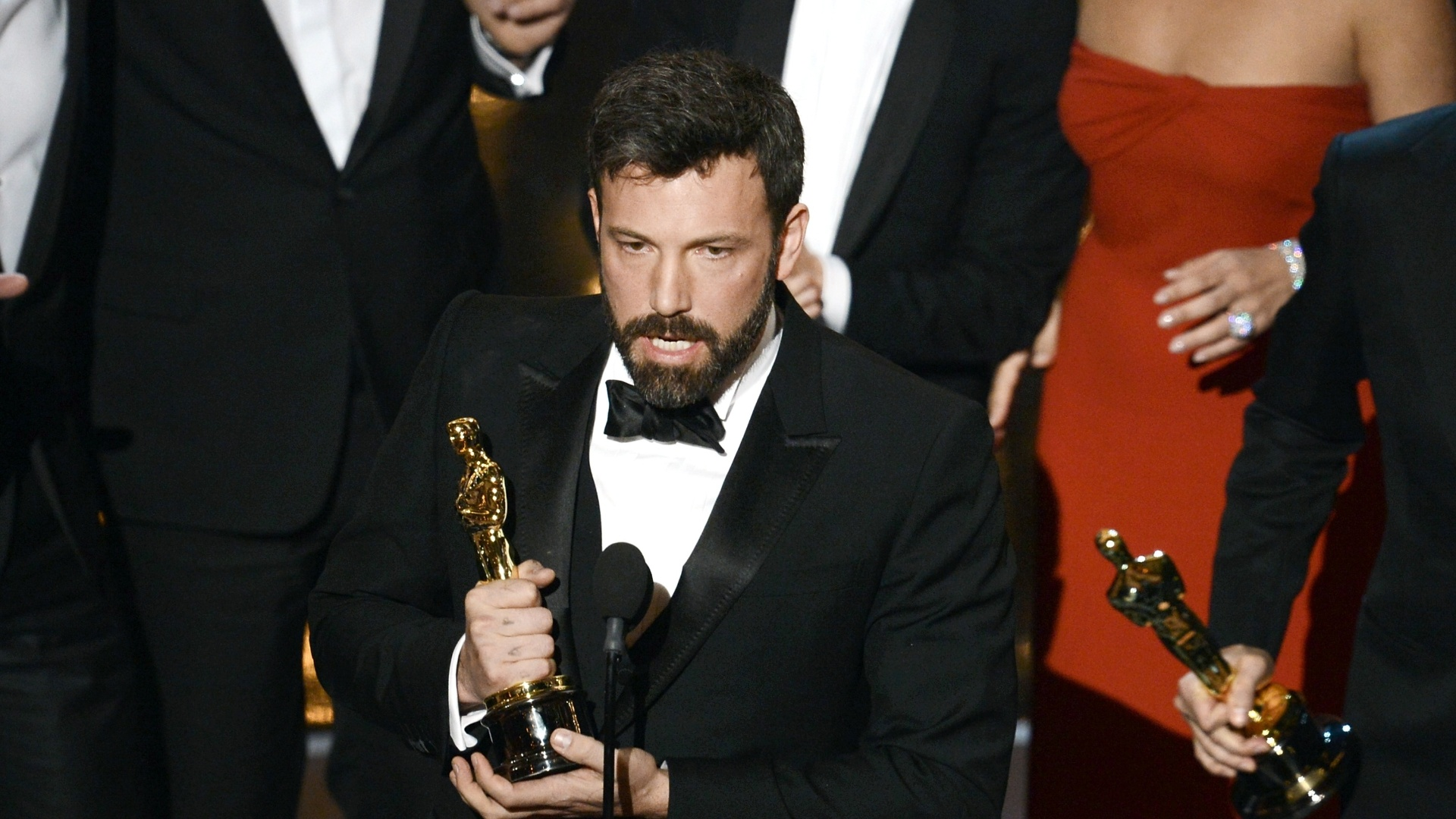 24.fev.2013 - Ben Affleck agradece a escolha de seu filme
