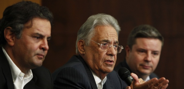 Encontro do PSDB em Belo Horizonte (MG) tem a presença do senador Aécio Neves, do ex-presidente da República e presidente de honra do partido, Fernando Henrique Cardoso, e do governador de Minas Gerais, Antônio Anastasia