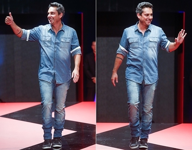 Alexandre Nero desfila no Mega Polo Moda para o Inverno 2013 (25/02/2013)