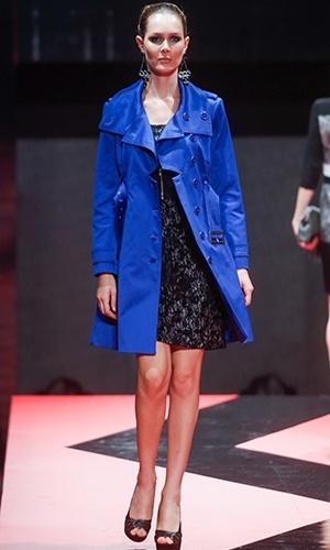 Modelo desfila look da Belinda Modas no Mega Polo Moda para o Inverno 2013 (25/02/2013)