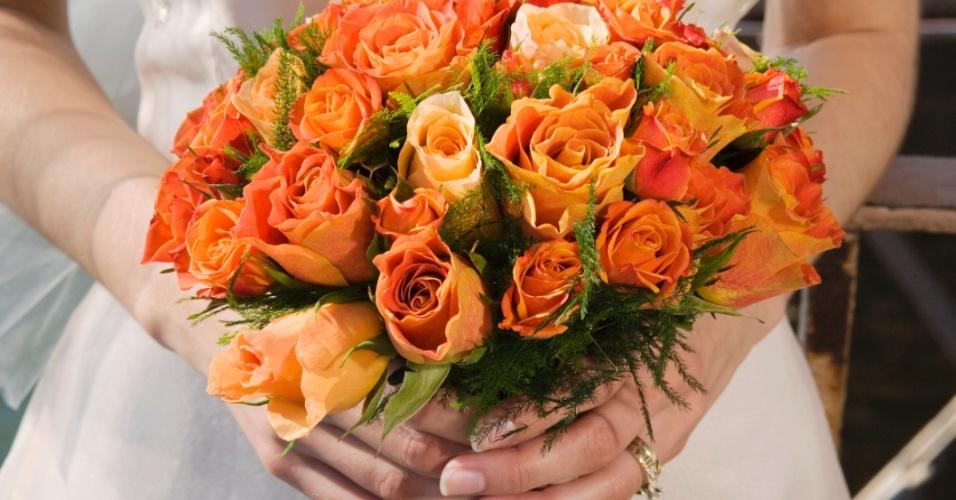 Buquê de casamento, noiva, flores, arranjo