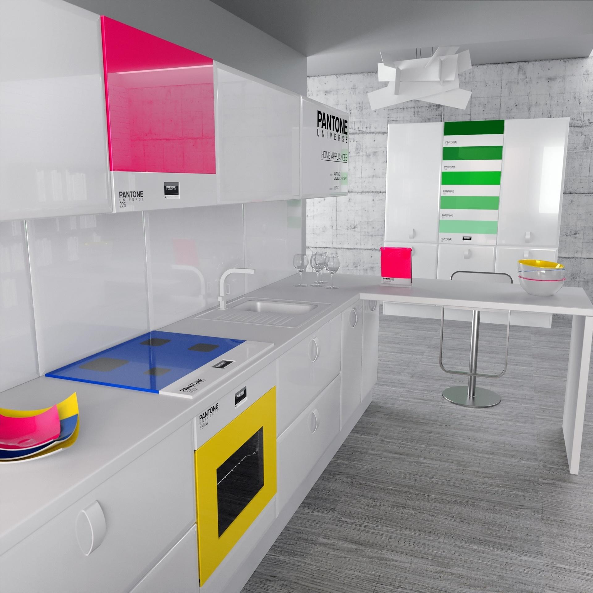 Cores na cozinha: o estúdio de design italiano, Antonio Lanzillo & Partners, desenvolveu eletrodomésticos e objetos coloridos criados a partir das matizes da escala Pantone