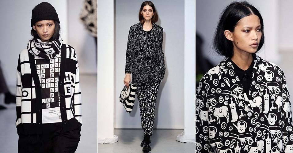 Modelos apresentam looks da Dévastée para o Inverno 2013 durante a semana de moda de Paris (26/02/2013)
