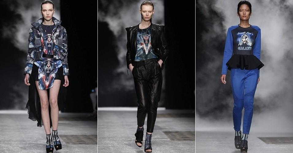 Modelos apresentam looks da Ground Zero para o Inverno 2013 durante a semana de moda de Paris (26/02/2013)