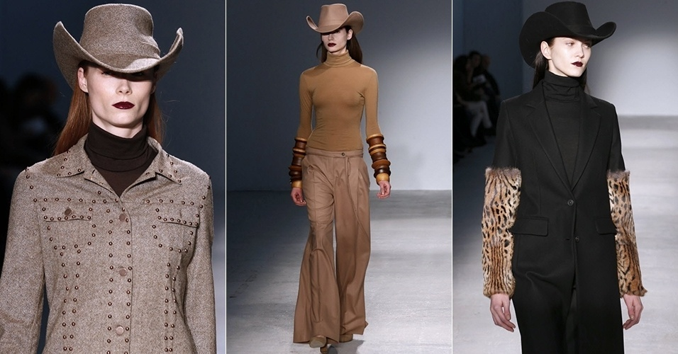 Modelos apresentam looks de Veronique Branquinho para o Inverno 2013 durante a semana de moda de Paris (26/02/2013)