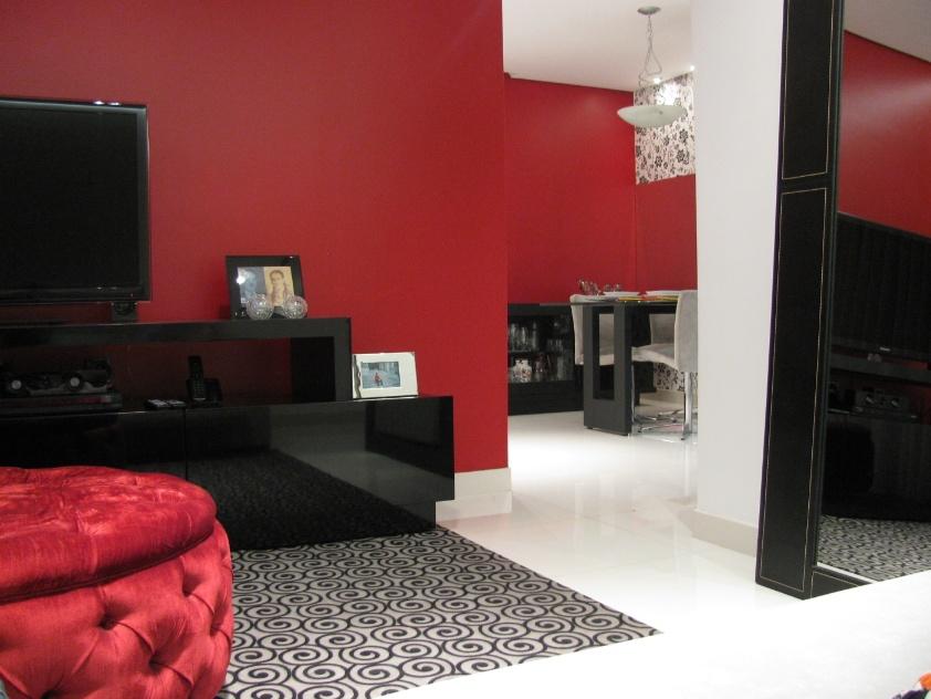 Sala De Tv Com Sofa Vermelho ~  vermelho) nas paredes das salas de estar e jantar funcionam como um