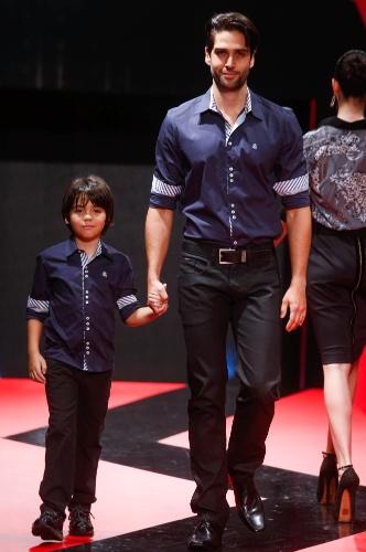 27.fev.2013 - A Chemissima propõe que papai e filho usem o mesmo look