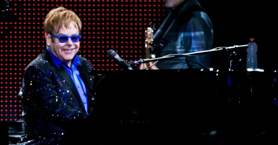 27.fev.2013 - Elton John apresentou o show da turnê