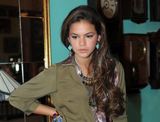 fev.2013 - Bruna Marquezine posa para a nova coleção de jeans da grife